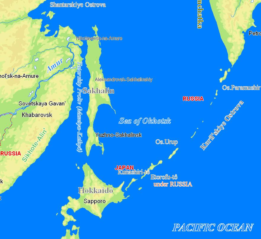 Pin sakhalin island on map on pinterest